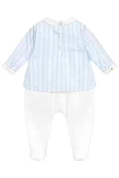 Tartine et Chocolat Soft-Blue Cotton Babygrow - Alternate List Image