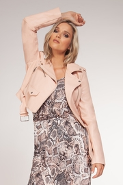 Black Tape/Dex Soft Blush Moto Jacket - Product Mini Image