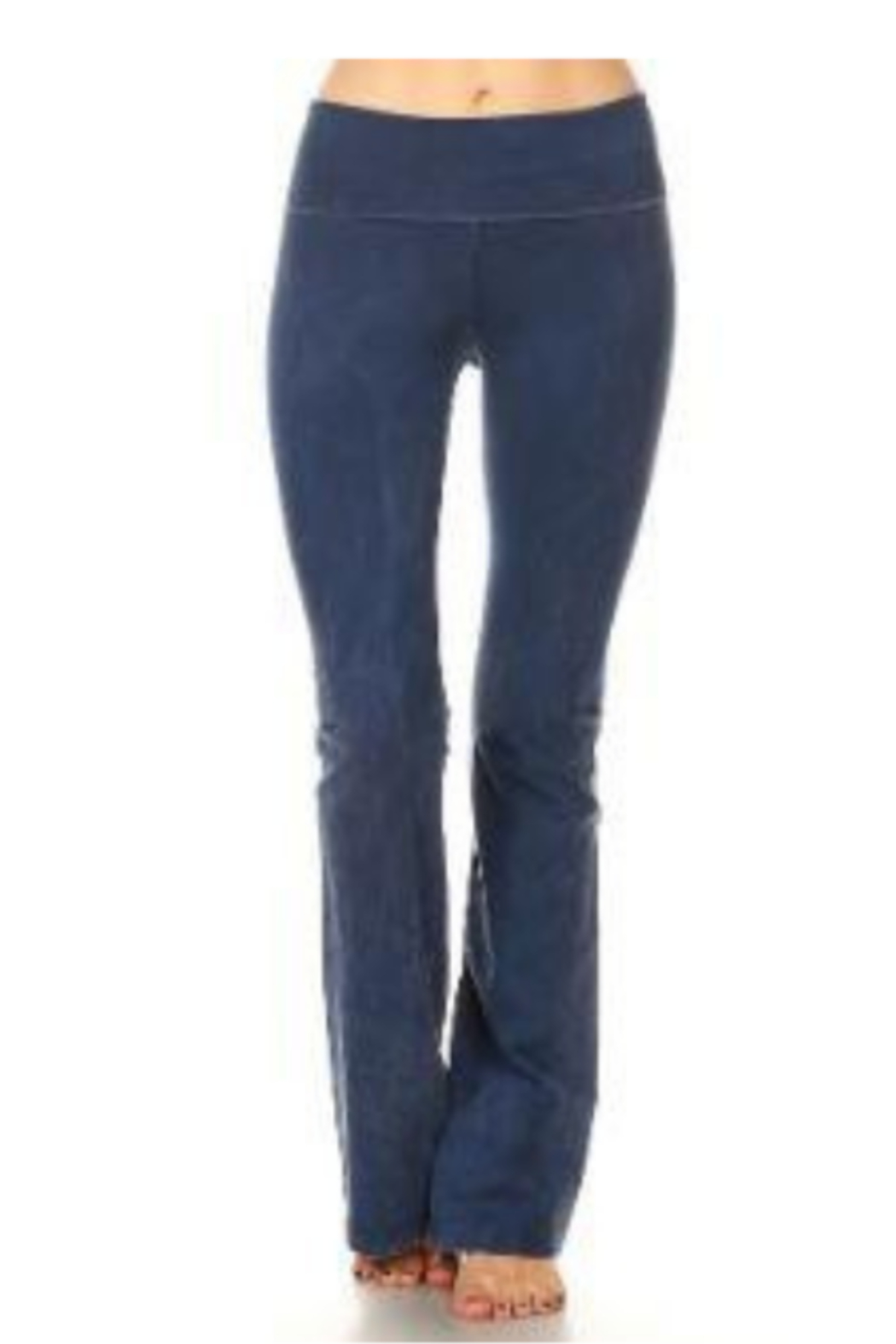 T Party Soft Brushed Boot Cut Yoga Pants - Front Cropped Image
