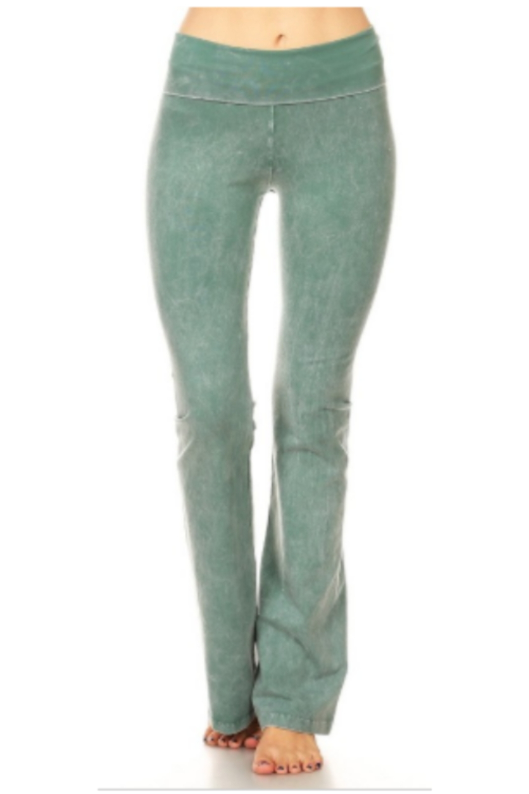 T Party Soft Brushed Boot Cut Yoga Pants - Main Image