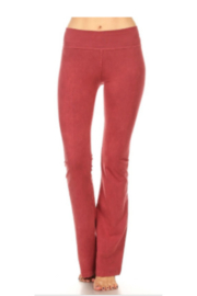 T Party Soft Brushed Boot Cut Yoga Pants - Front cropped