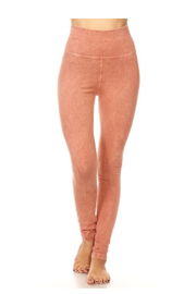 T-Party  Soft Brushed Straight Leg Yoga Leggings - Product Mini Image