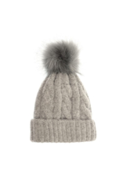 JOY ACCESSORIES INC Soft Cable Knit Pom Pom Hat - Front cropped