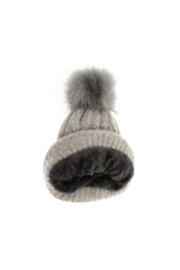 JOY ACCESSORIES INC Soft Cable Knit Pom Pom Hat - Front full body