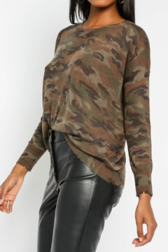 Olivaceous  Soft Camo Sweater - Product List Image