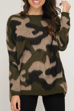 Shoptiques Product: Soft Camo Sweater