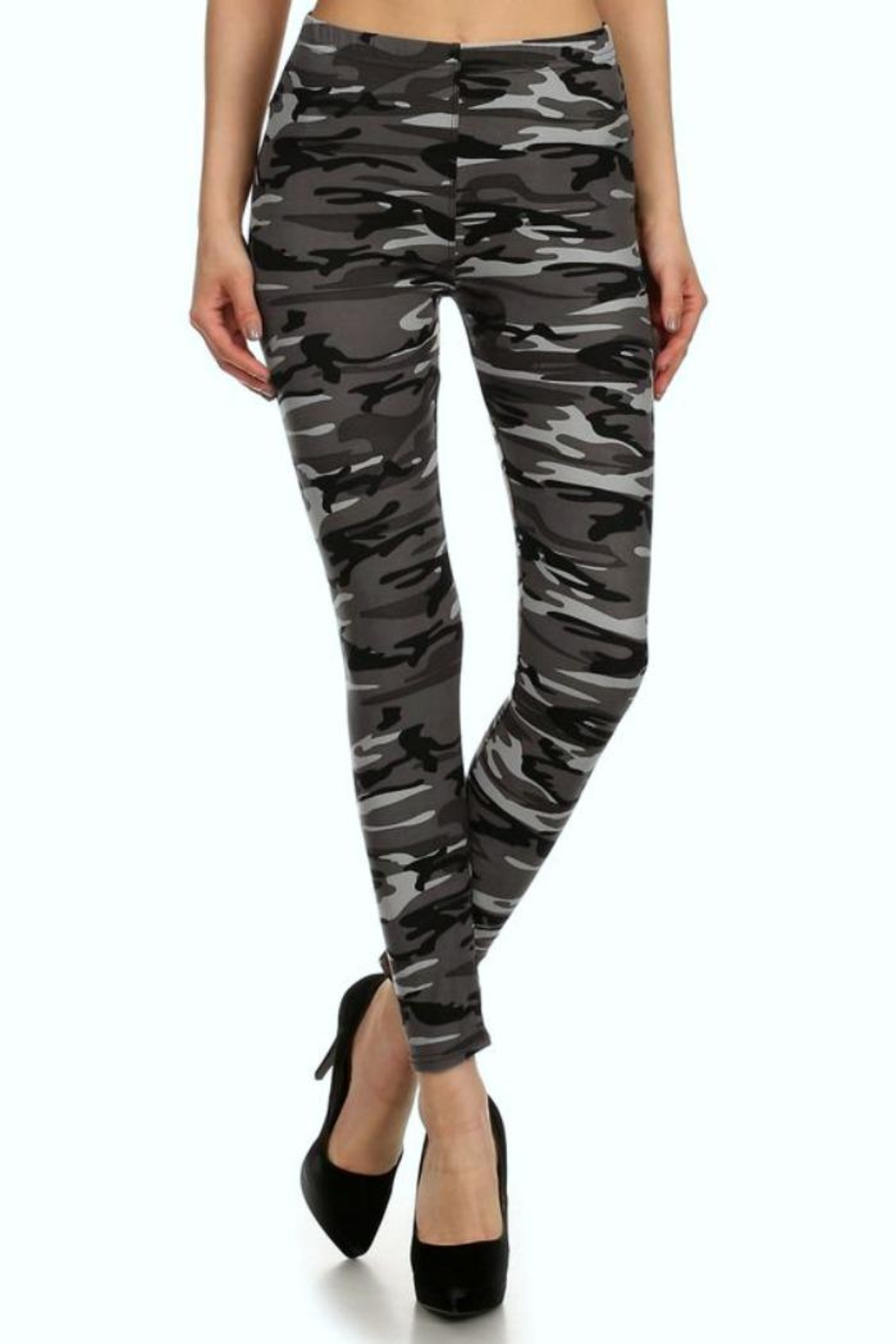 Simply Chic Soft Camouflage Leggings - Front Cropped Image