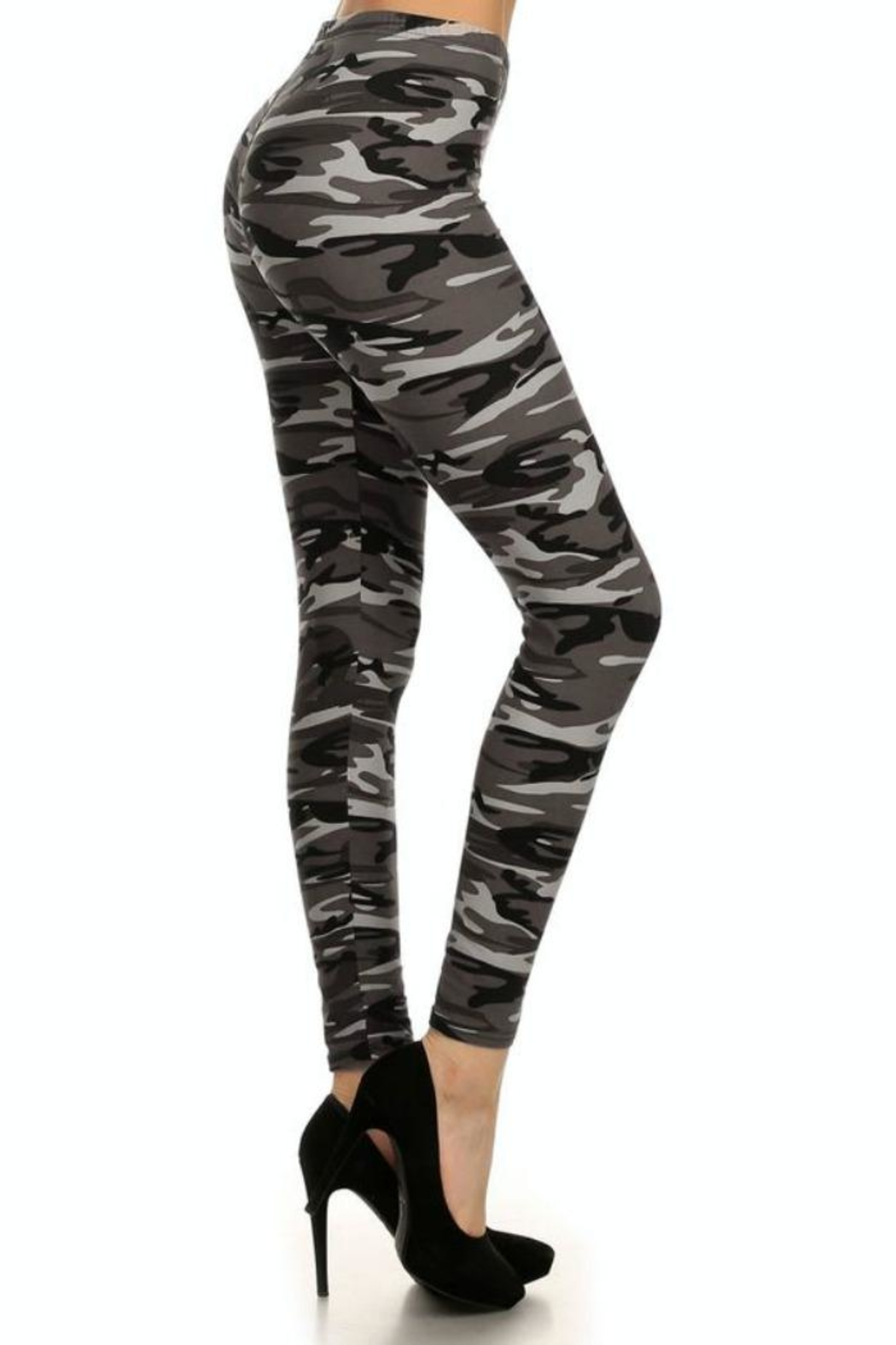 Simply Chic Soft Camouflage Leggings - Front Full Image