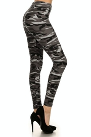 Simply Chic Soft Camouflage Leggings - Front full body