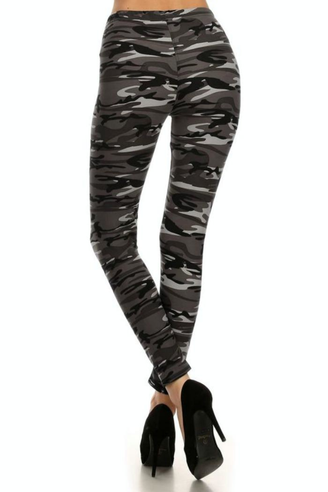 Simply Chic Soft Camouflage Leggings - Side Cropped Image