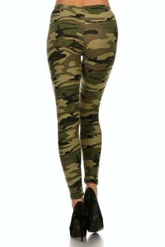 Simply Chic Soft Camouflage Leggings - Alternate List Image