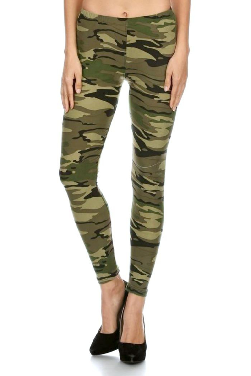 Simply Chic Soft Camouflage Leggings - Main Image