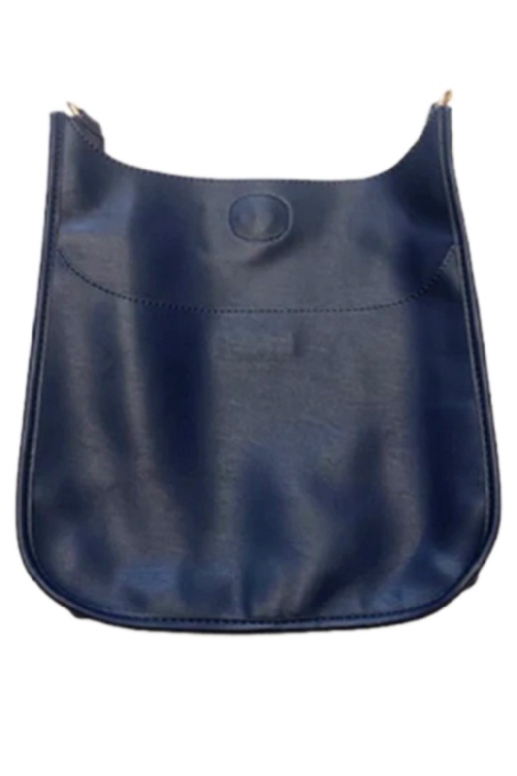 Ahdorned Soft Faux Leather Messenger - Strap not included - Front Cropped Image
