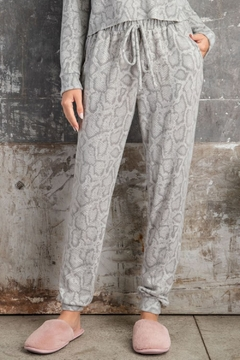 143 Story Soft Feel Snake Print Jogger - Product List Image