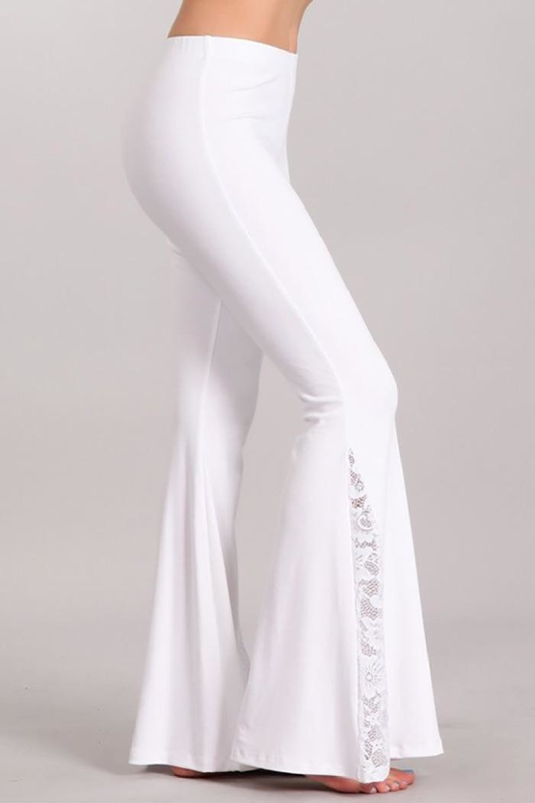 Chatoyant  Soft Flared-Bell Pants - Back Cropped Image