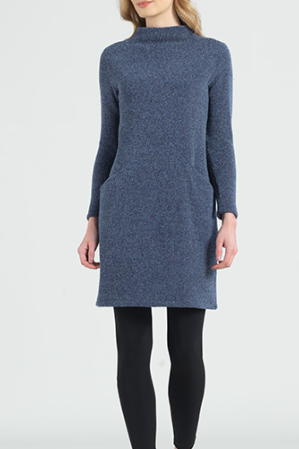 Sun Woo Soft Funnel Sweater Dress - Front Cropped Image