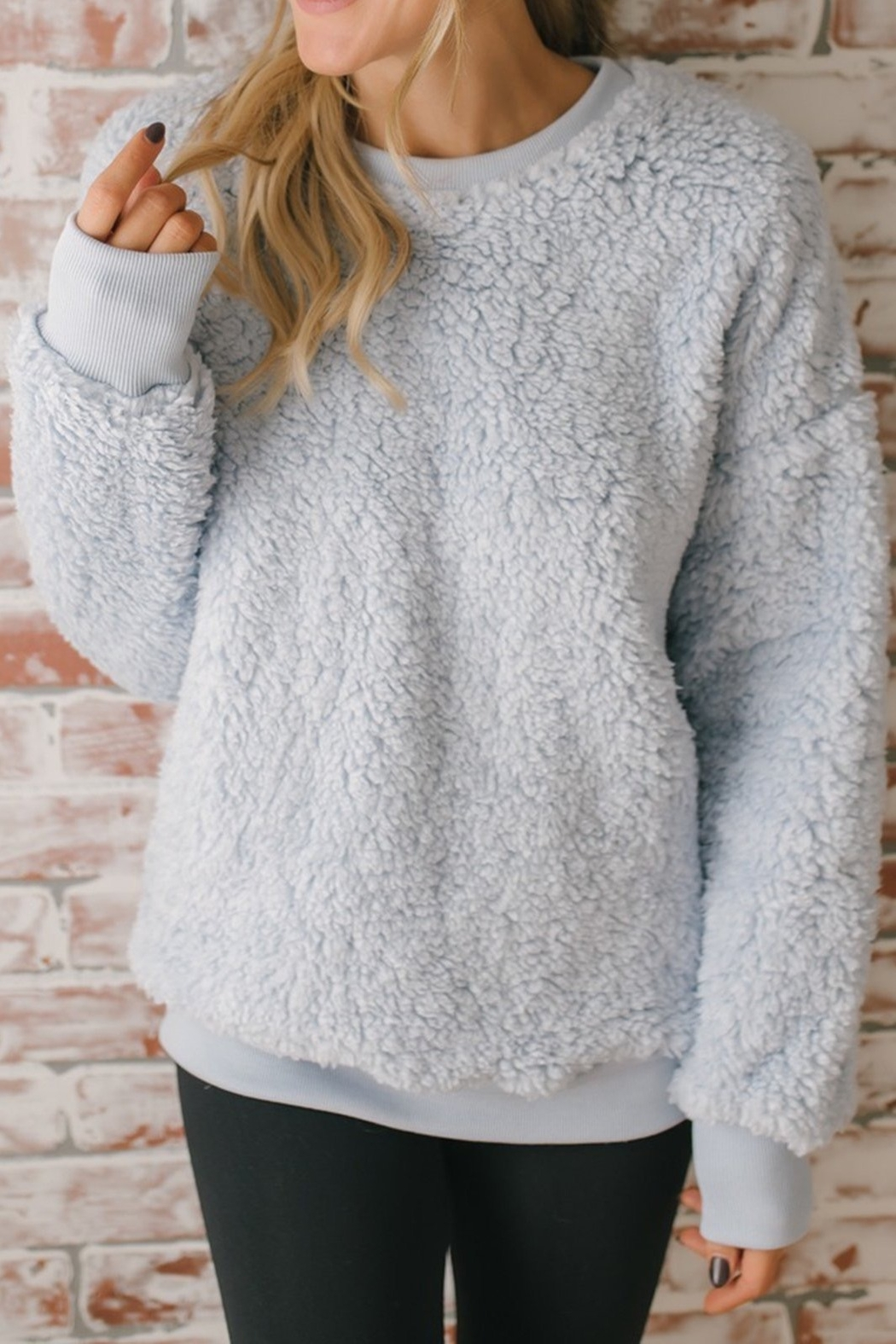 The Birch Tree Soft Grey Pullover - Main Image
