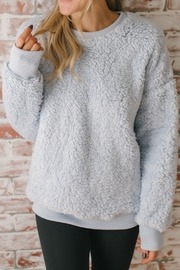 The Birch Tree Soft Grey Pullover - Front cropped