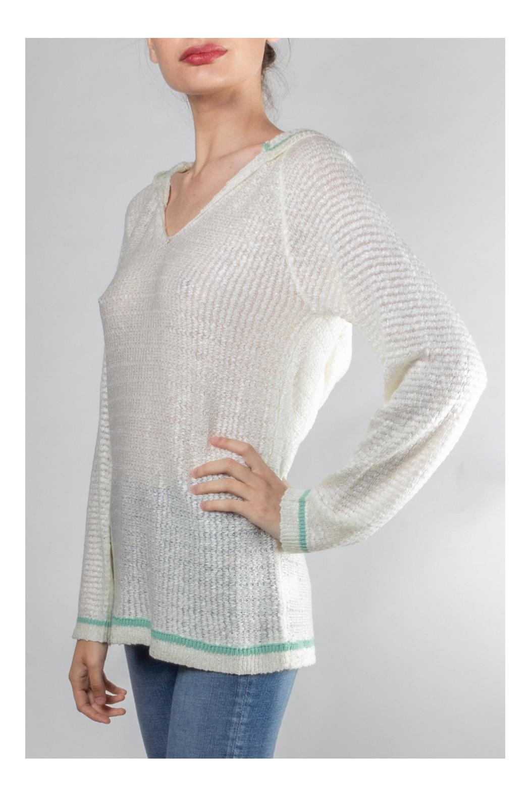 Hem & Thread Soft Hooded Sweater - Side Cropped Image