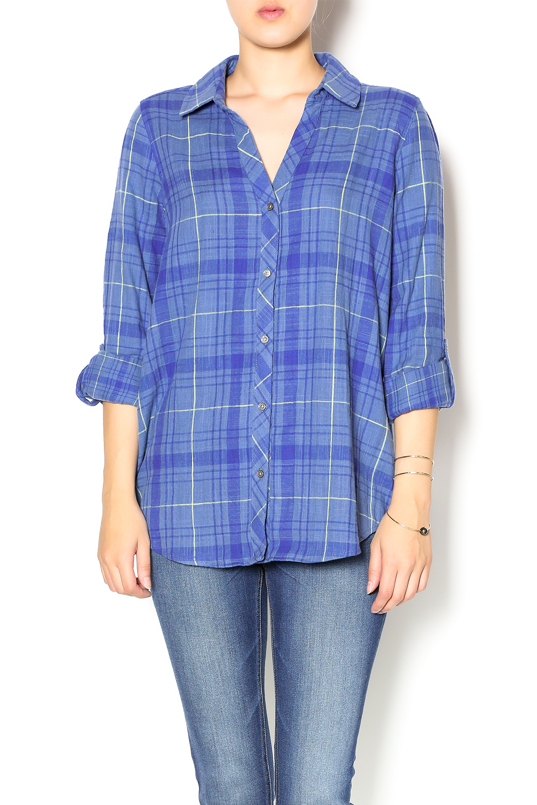 Soft joie daina plaid shirt from texas by laura 39 s line for Soft joie plaid shirt