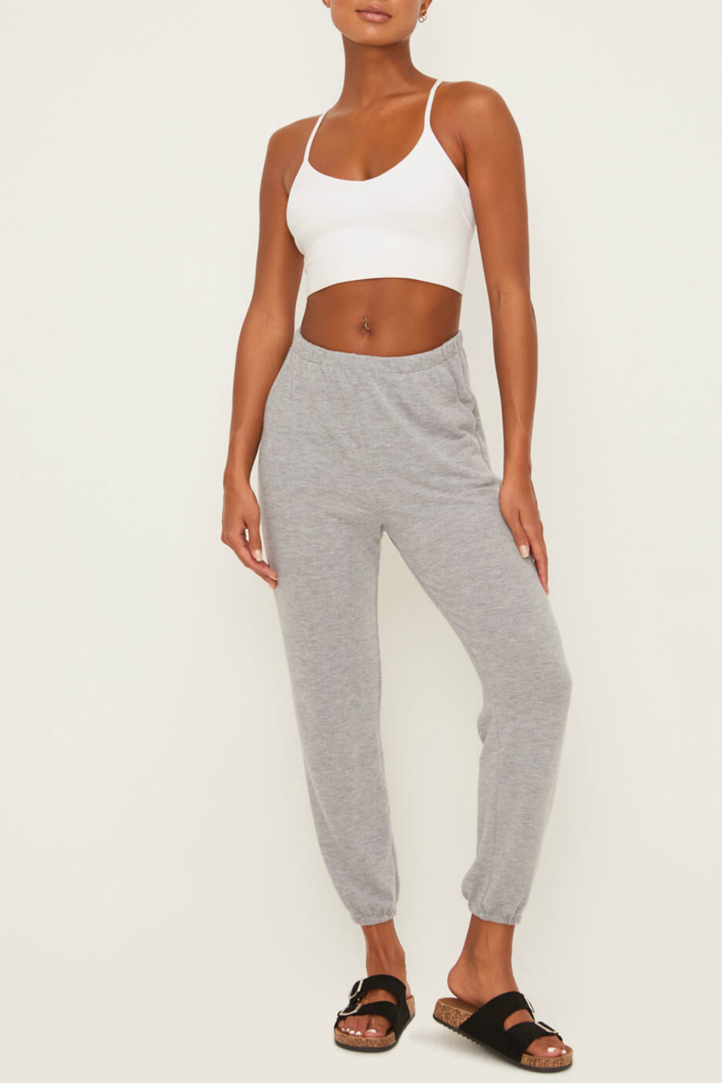 Lush  Soft Knit Bottoms - Front Cropped Image