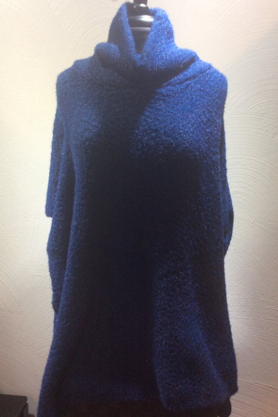Lookbym Soft Knit Cowl Neck Poncho - Main Image