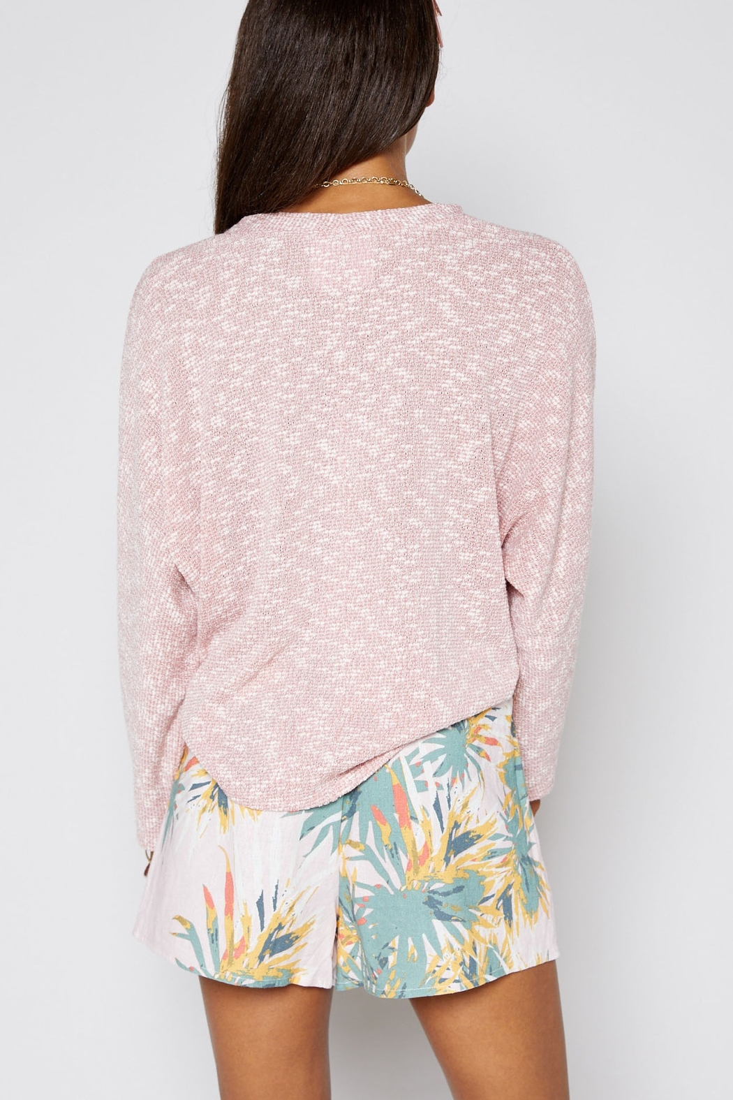 Sadie & Sage Soft-knit Tie Top - Back Cropped Image
