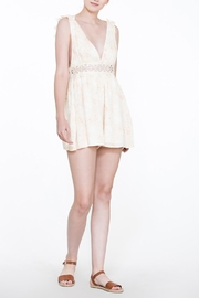 En Creme Soft Lace Romper - Front full body
