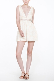 En Creme Soft Lace Romper - Side cropped