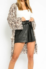 Olivaceous  Soft Leopard Cardigan - Front cropped