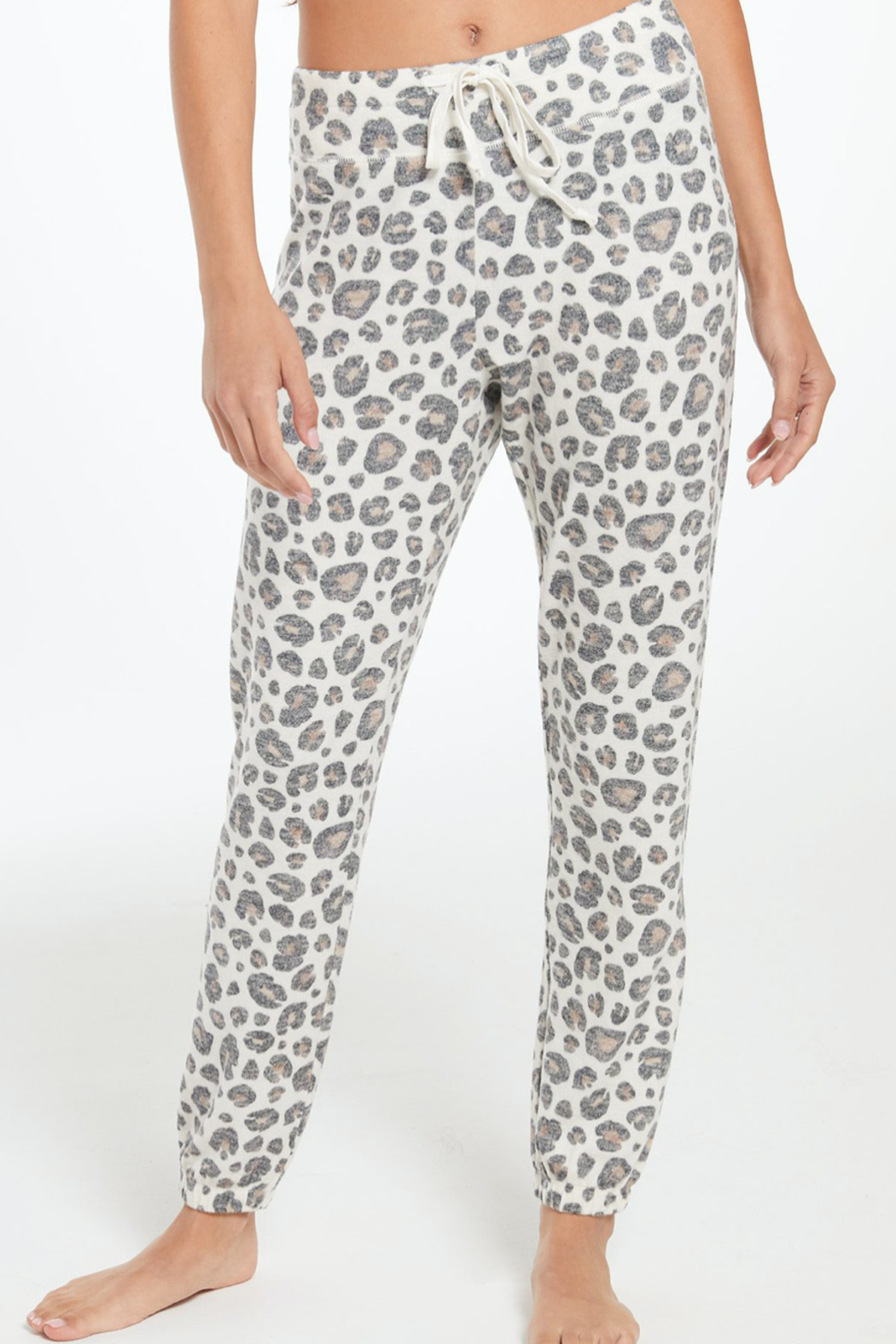 z supply Soft Leopard Joggers - Main Image