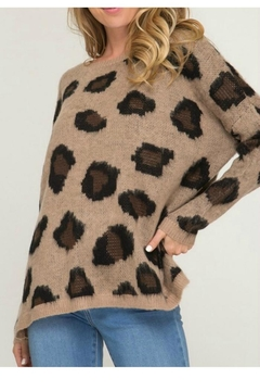 Shoptiques Product: Soft Leopard Sweater