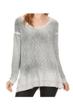 T Party Soft Long Sleeve Knit Tunic Waffle Weave Top - Alternate List Image