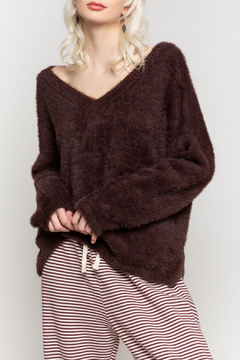 POL Soft Mohair V Neck Sweater - Product List Image