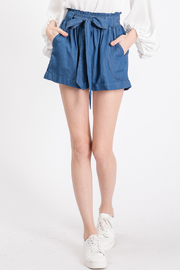 Lyn-Maree's  Soft Paperbag Shorts - Front cropped