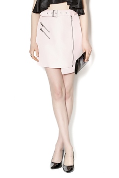 C/MEO COLLECTIVE Soft Pink Moto Skirt - Product List Image