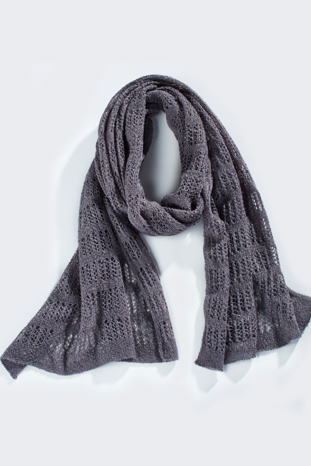 Giftcraft Inc.  Soft Pointelle Knit Scarf - Front Cropped Image