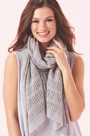 Giftcraft Inc.  Soft Pointelle Knit Scarf - Product Mini Image