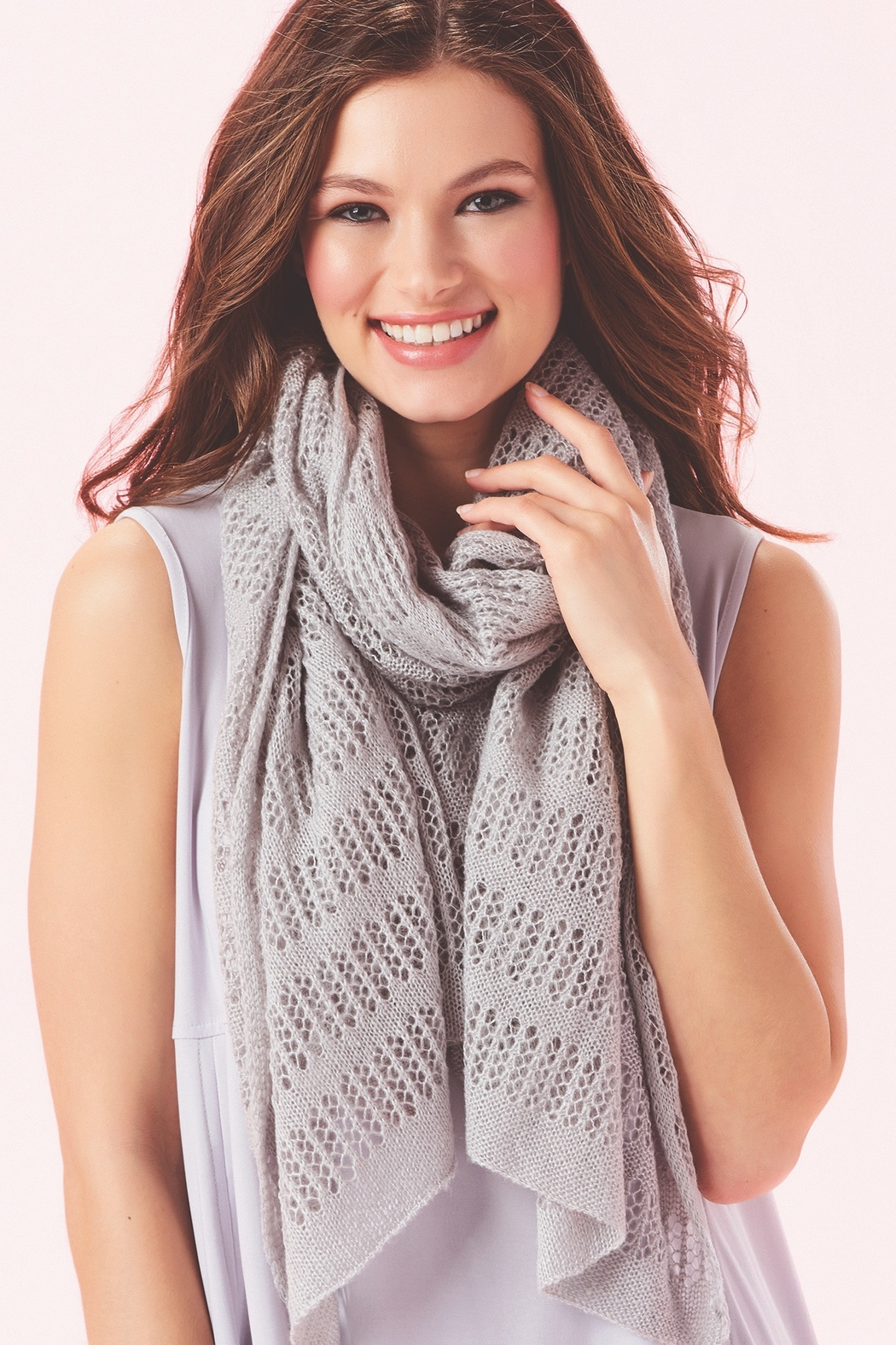 Giftcraft Inc.  Soft Pointelle Knit Scarf - Main Image