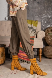 Easel  Soft Poly Linen Pants - Side cropped