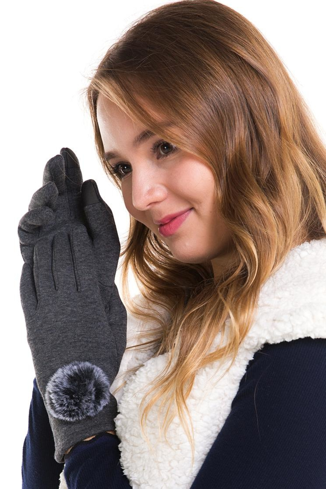 david and young Soft Pom-Pom Gloves - Front Full Image