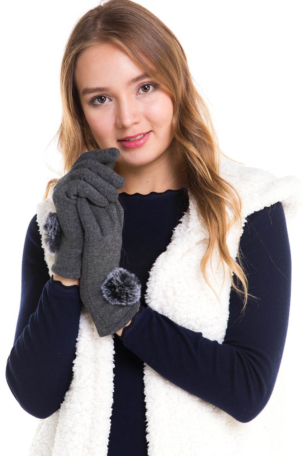 david and young Soft Pom-Pom Gloves - Main Image
