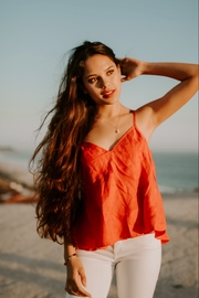Lovestitch Soft Red Cami by - Product Mini Image