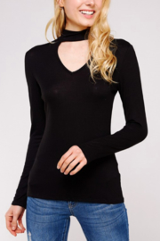 Urban X Soft Ribbed Knit Top with Choker Neckline - Product Mini Image