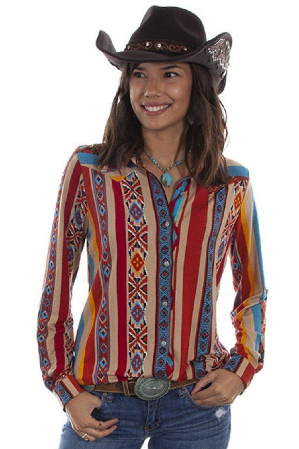 Scully Soft Serape Button-Up - Main Image
