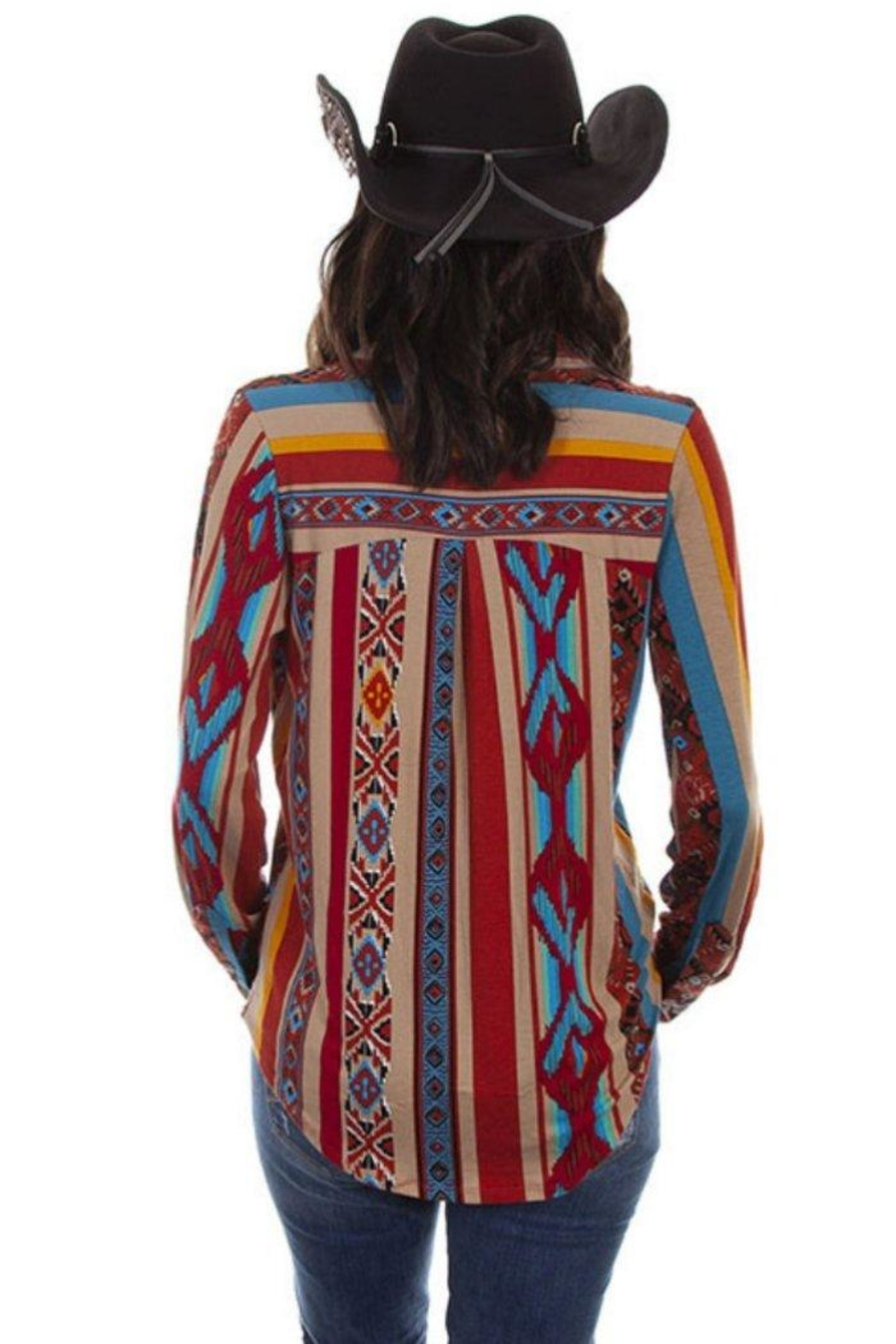 Scully Soft Serape Button-Up - Front Full Image