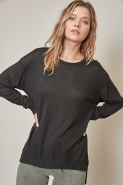 Mustard Seed  Soft Sheer Knit Sweater - Product Mini Image