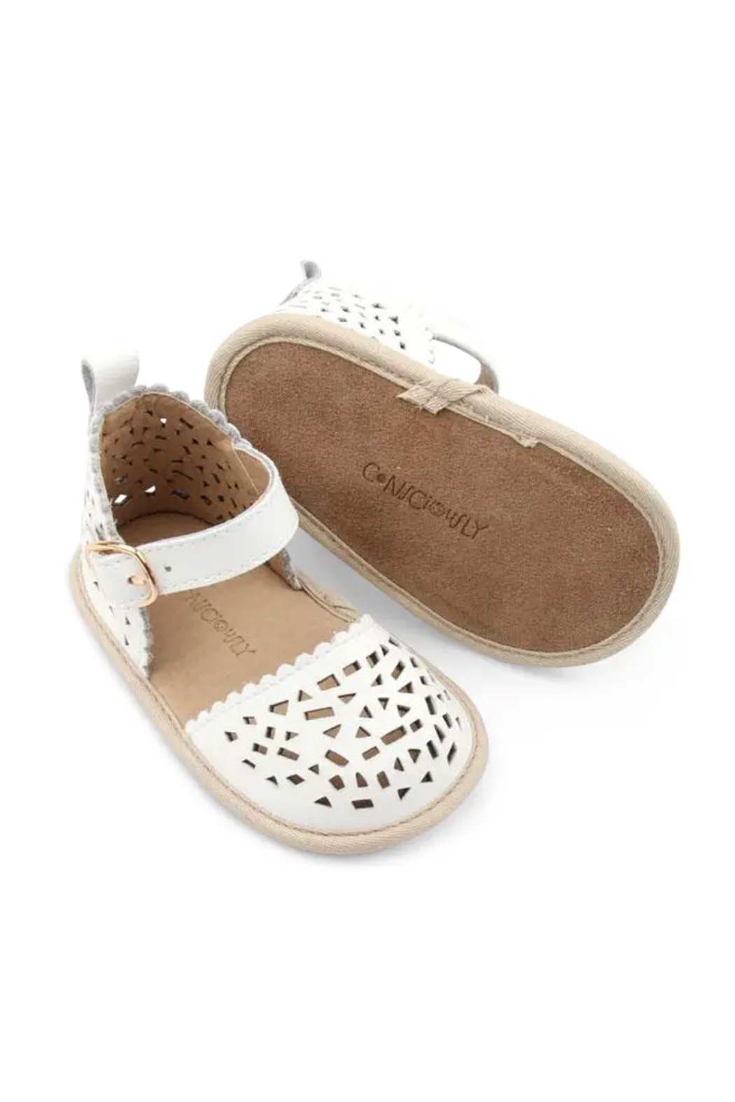 Consciously Baby Soft Sole Leather  Sandal Phuket Formentera - Front Full Image