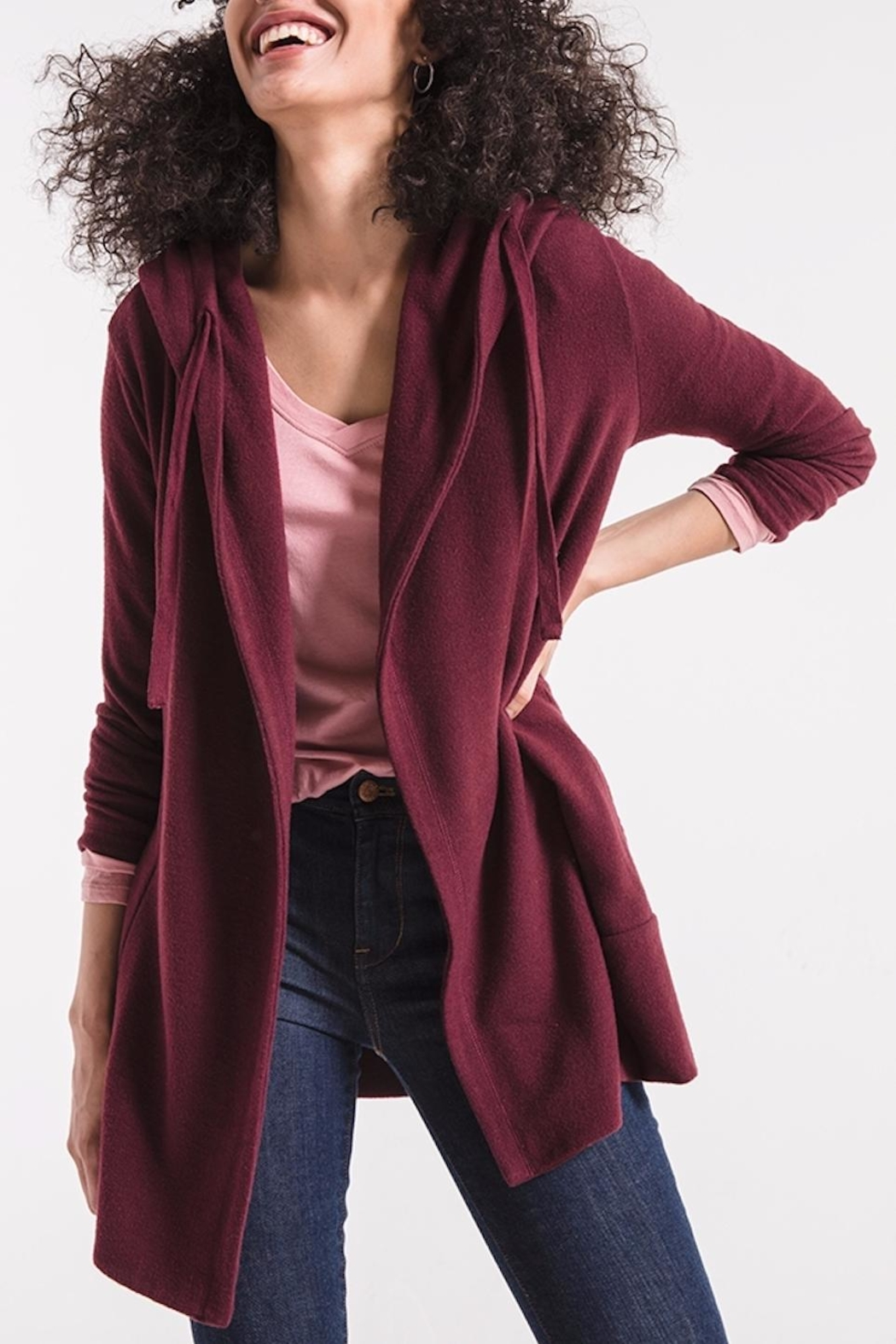 z supply Soft Spun Cardigan - Front Full Image