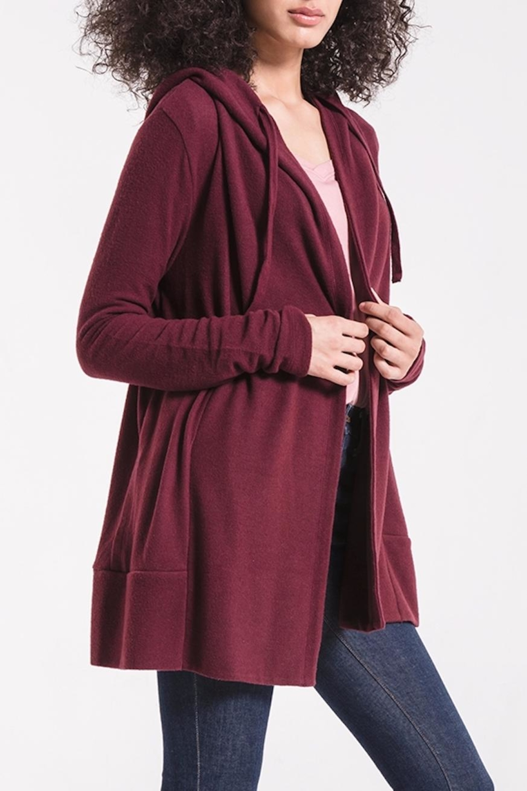 z supply Soft Spun Cardigan - Back Cropped Image